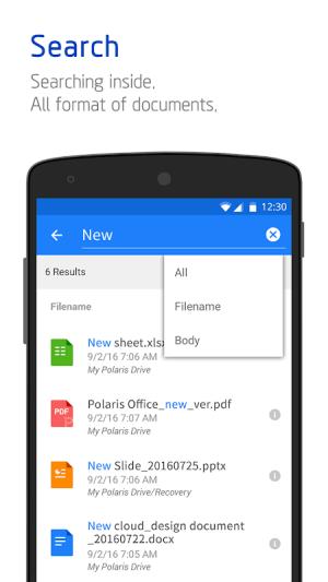 Polaris Office - Free Docs, Sheets, Slides + PDF 9.0.4 Screen 16