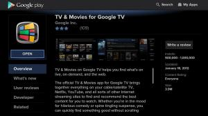 Android Google TV - Google Play Store Screen 1