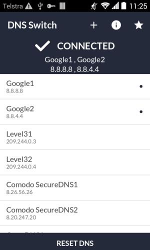 DNS Switch - Unlock Region Restrict 1.6.2 Screen 1