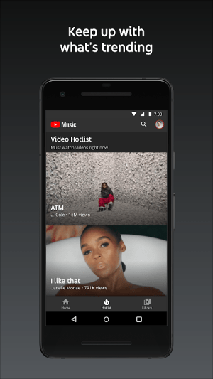 Android YouTube Music - stream music and play videos Screen 3