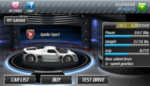 Android Drag Racing Screen 2