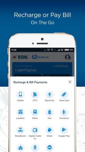 BSNL Wallet - Recharges, Bill Payments, Shopping 1.1 Screen 2