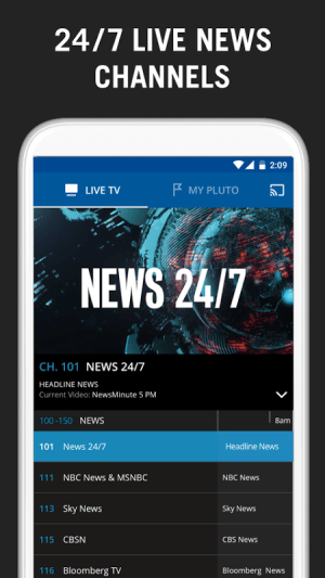 Pluto TV 3.0-leanback Screen 1
