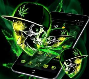 Green Weed Skull Theme 1.1.7 Screen 4