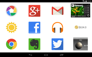 Android BIG Launcher Screen 1