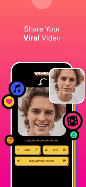 Wombo: Make your selfies sing 1.2.7 Screen 2