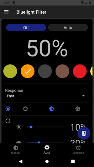 Bluelight Filter for Eye Care - Auto screen filter 3.3.2 Screen 2
