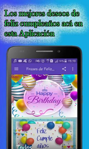 Android Feliz Cumpleaños Screen 1