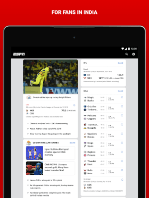 Android ESPN Screen 7
