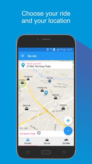 Go ixe call taxi 1.2.9 Screen 1