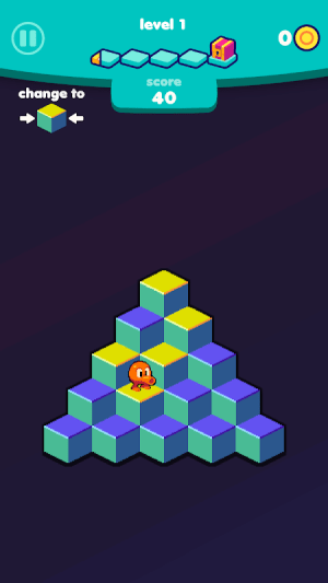 Q*bert 1.3.4 Screen 10