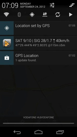 GPS Status - notification proxy plugin 9.0 Screen 1