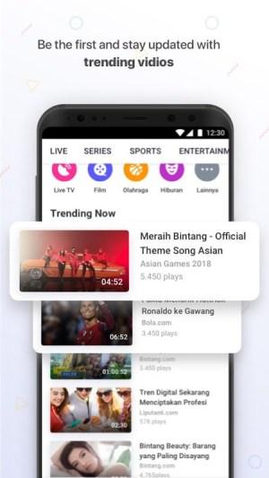 Vidio - Nonton Video & TV Indonesia SCTV, Indosiar 3.0.4 Screen 5