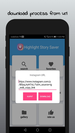 Android Highlight Story Saver for Instagram Screen 2