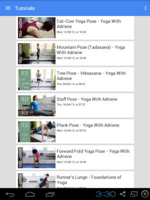 Android Foundations of Yoga Screen 2