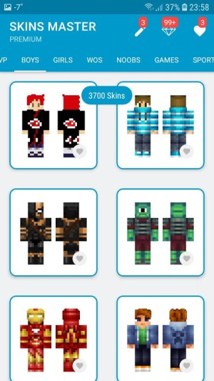 Android Skins MASTER for MINECRAFT (30 000 Skins) + Editor Screen 5