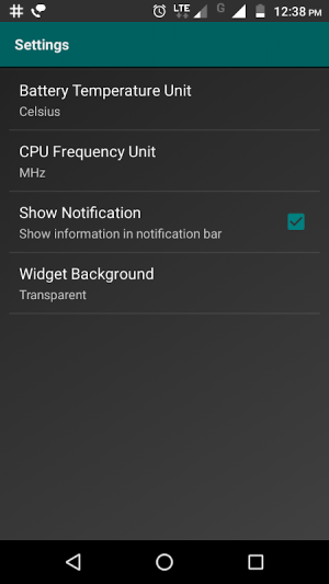 Widgets - CPU | RAM | Battery 3.0.3 Screen 1
