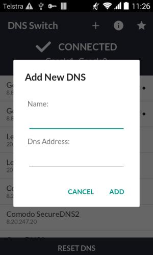 DNS Switch - Unlock Region Restrict 1.6.2 Screen 2