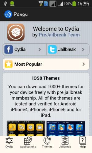 Pangu Jailbreak 1.0 Screen 2