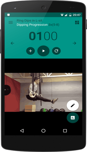 Android Home Workout Screen 1