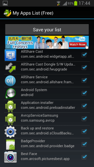 My Apps List (Free) 1.00.3 Screen 2