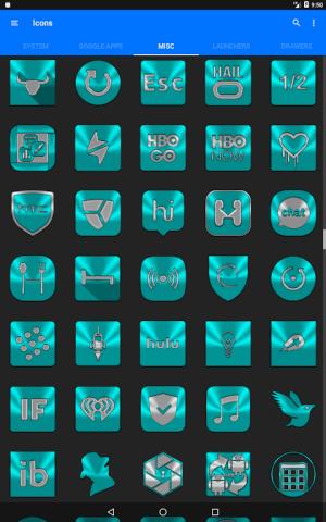 Cyan Icon Pack ✨Free✨ 3.8 Screen 20