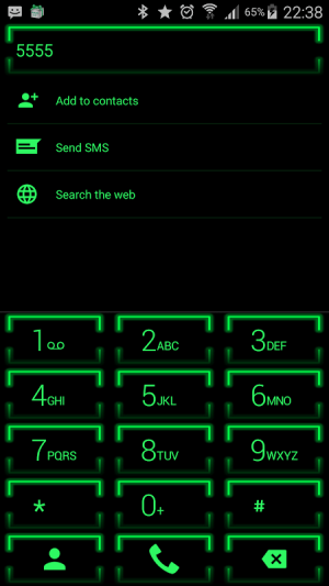 Theme for ExDialer Neon Green 2.0 Screen 2