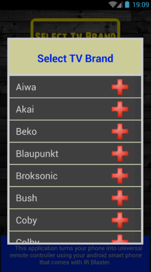 TV Remote Control - All TV 1.0.0 Screen 2