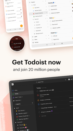 Todoist: To-Do List, Tasks & Reminders 15.0.2 Screen 3