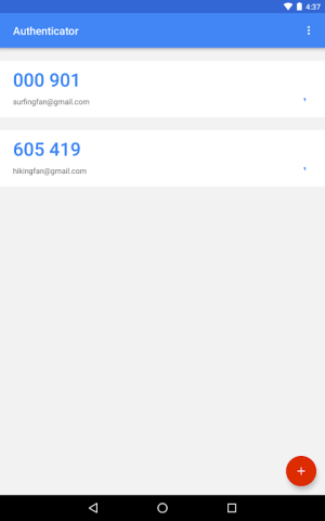 Android Google Authenticator Screen 13