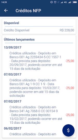Nota Fiscal Paulista 2.2.3 Screen 2