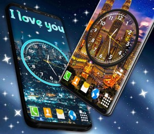 Android Night Sky Clock HD Pro 🌜 4K Live Wallpaper Themes Screen 1
