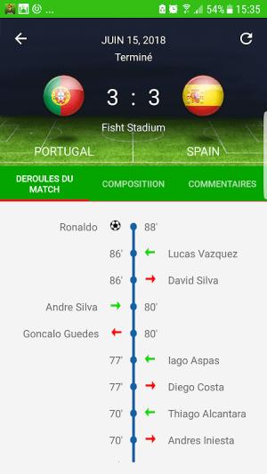 Android Coupe du monde 2018  Alerte Résultats Calendrier Screen 4