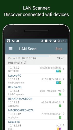 Network Analyzer 3.6.2 Screen 3