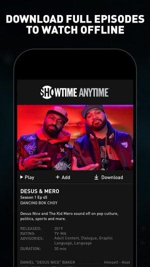 Showtime Anytime 3.7.1 Screen 5