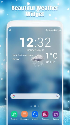 Android Real-time weather report Screen 7