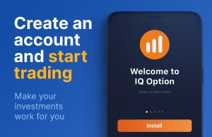Android IQ Option – Online Investing Platform Screen 1