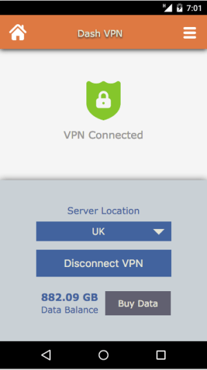 Dash VPN 3.041 Screen 5