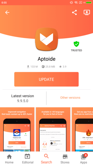 Aptoide Dev 9.13.3.0.20200330 Screen 6