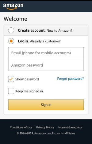 Android Amazon Shopping App Screen 2