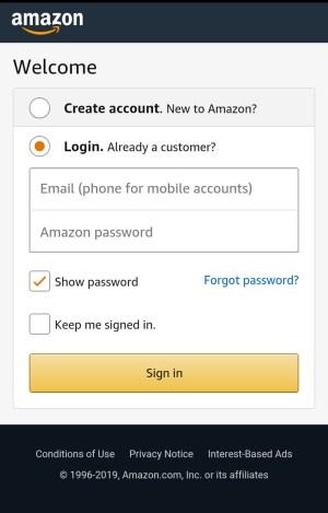 Amazon Shopping App 1.0 Screen 2