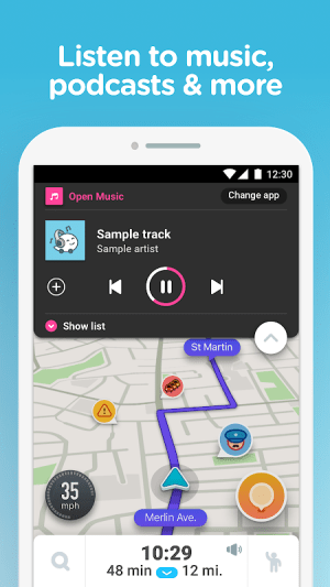 Waze - GPS, Maps, Traffic Alerts & Sat Nav 4.54.0.2 Screen 3