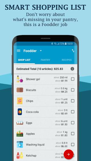 Foodder - shopping list, pantry, cookbook 1.9.8 Screen 3