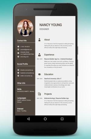 CV Maker Resume Builder PDF Template Format Editor 9.1.18.pro Screen 2