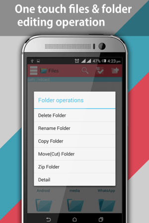 Android File Explorer and File Manager Screen 4