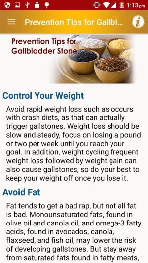 Stone Diet Renal Gall Bladder Kidney Gallbladder 2.4 Screen 14