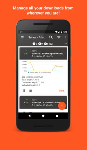 Aria2App (open source) 5.4.3 Screen 1