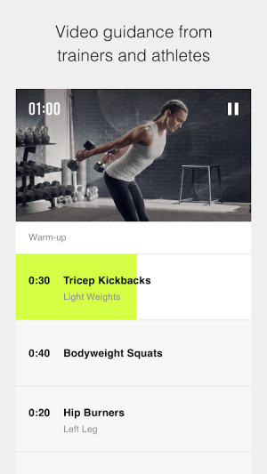 Nike Training Club - Workouts & Fitness Plans 6.4.1 Screen 3