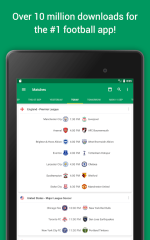 FotMob Pro - Live Football Scores 109.0.7275.20191107 Screen 1