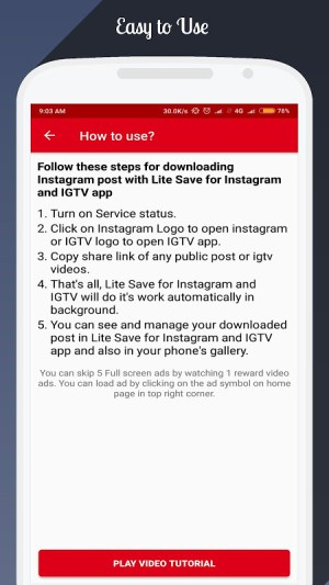 Lite Save for Instagram and IGTV 1.9 Screen 6